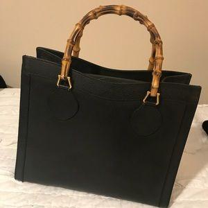 Gucci Vintage Bamboo Tote Bag